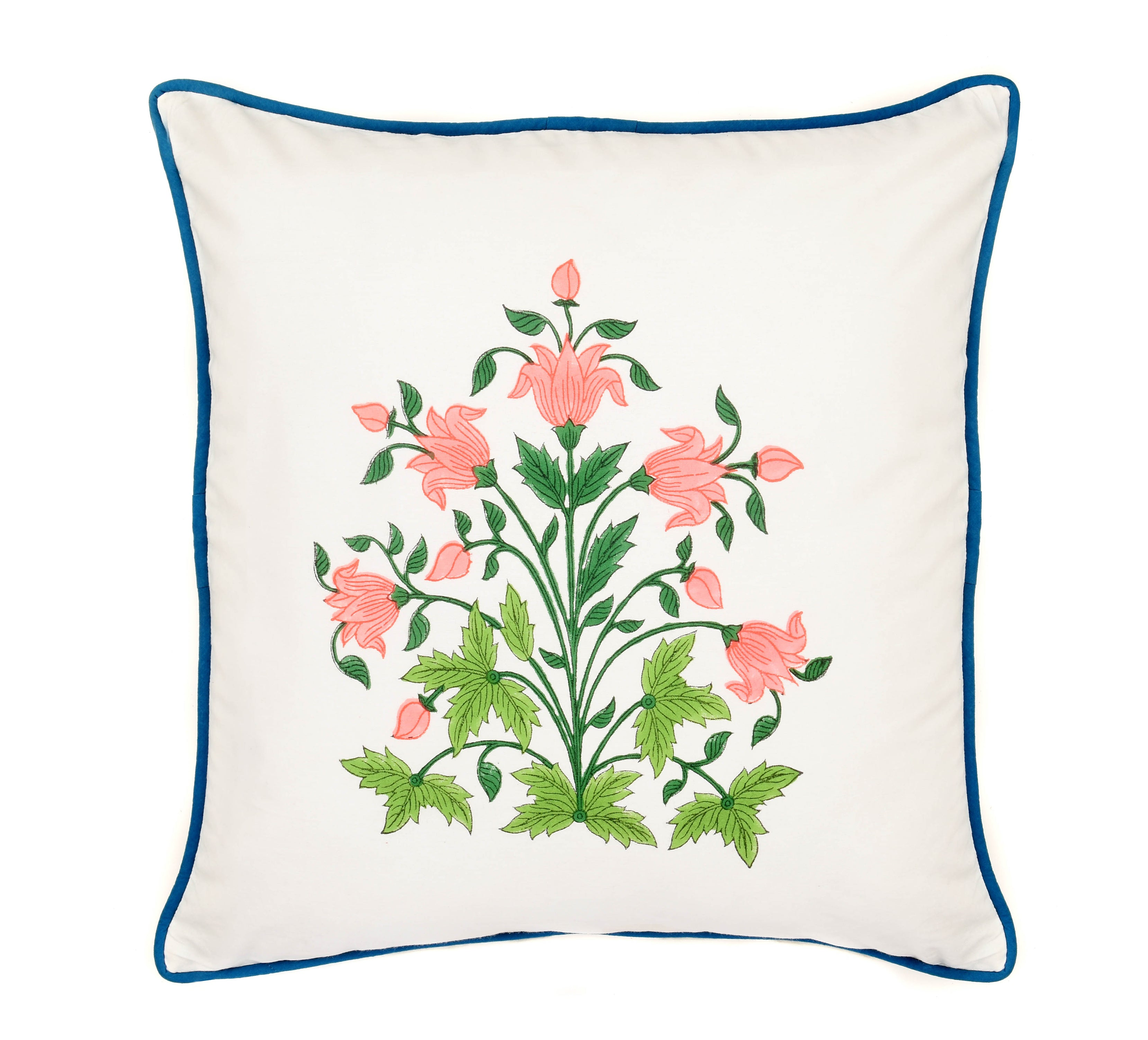 Continental Hand-Painted Cotton Cushion Cover Set of 2
