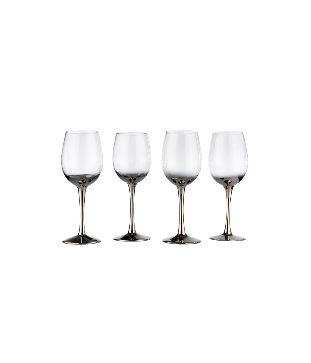 Wine glass platinum Set of 4