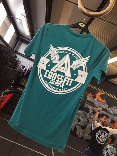 Retro Tri Blend T shirt - Teal