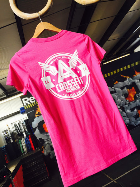 Retro Tri Blend T Shirt - Pink (Ladies Fit)