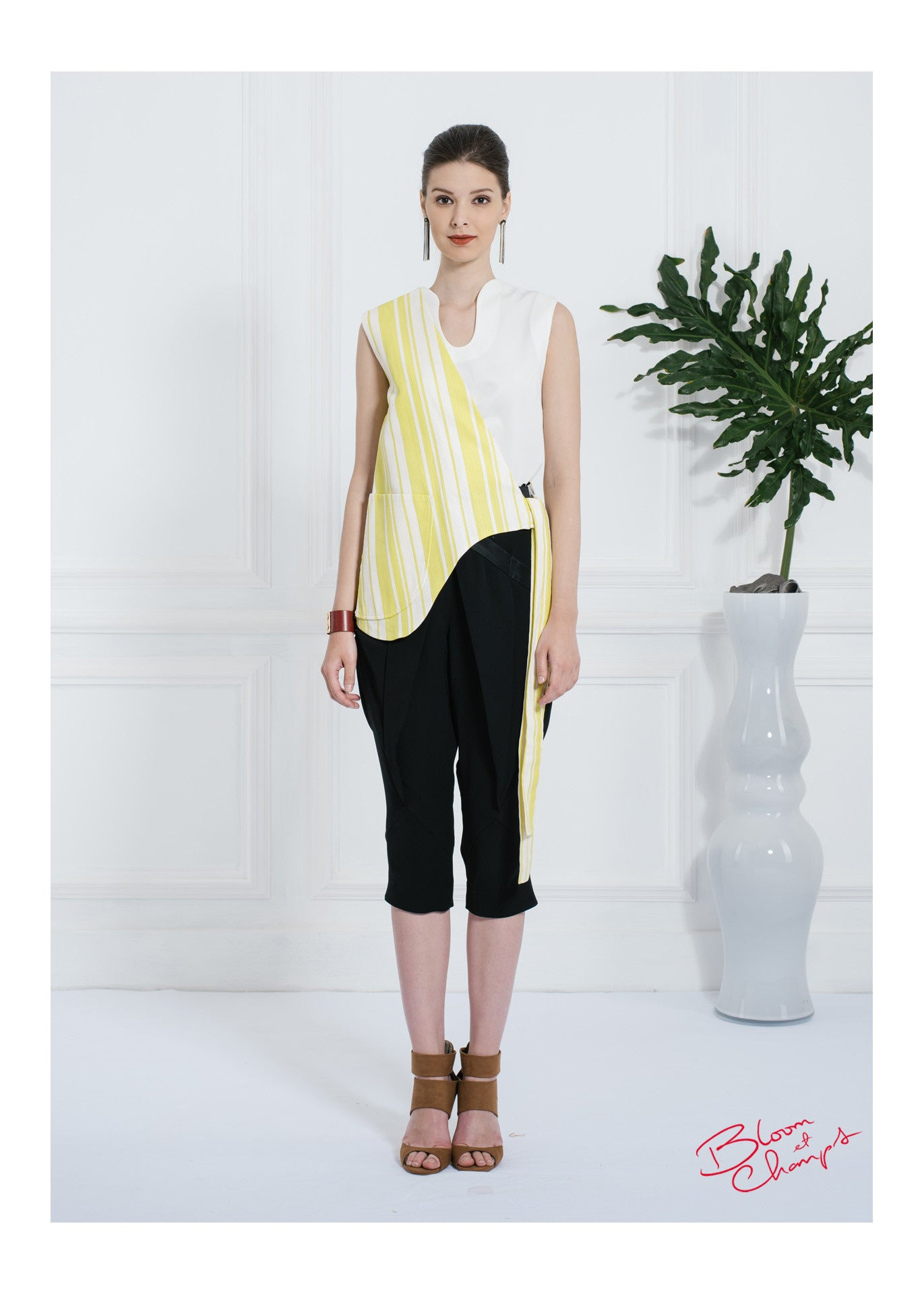 Yellow Stripes Top