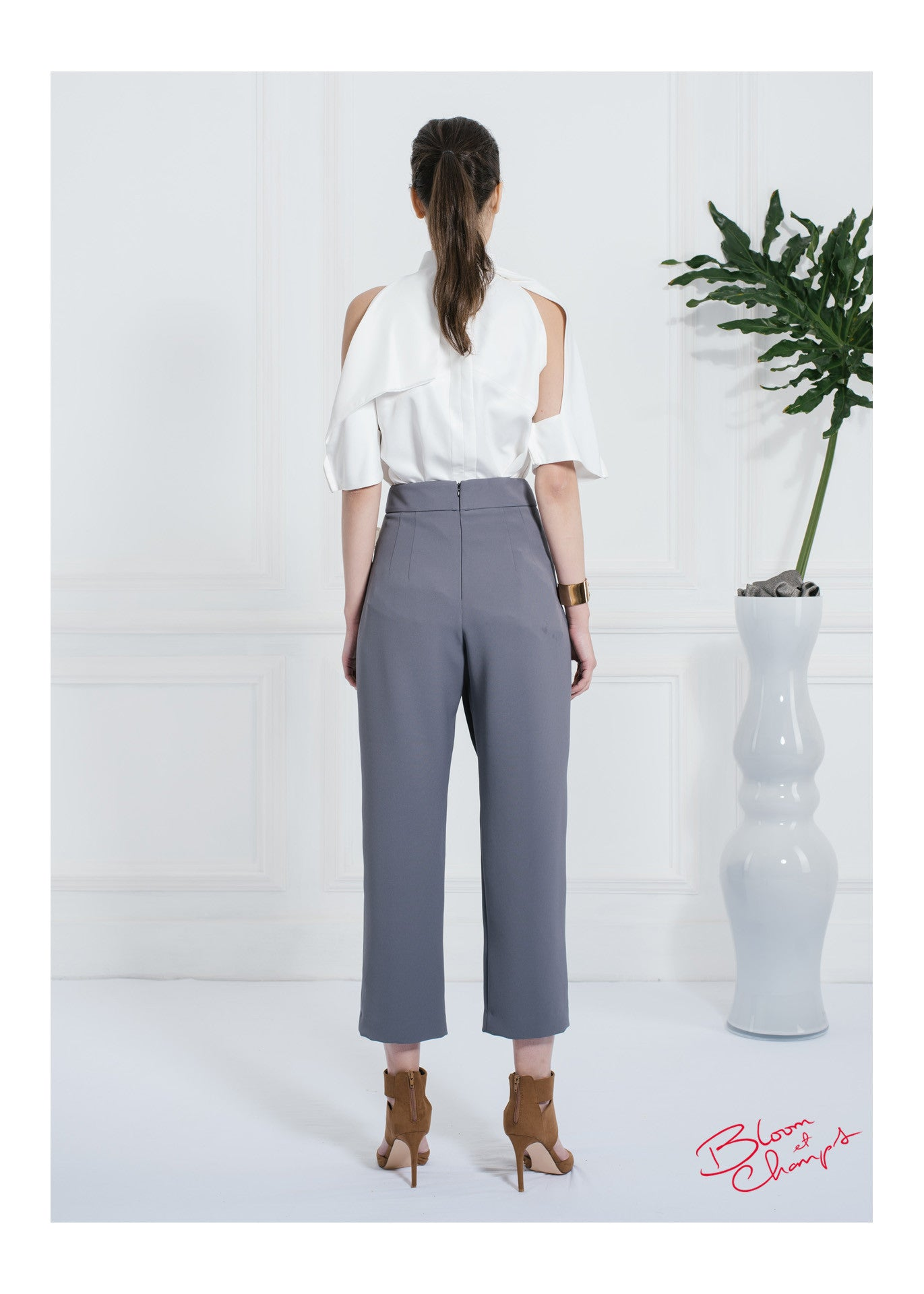 Grey Bow Pants