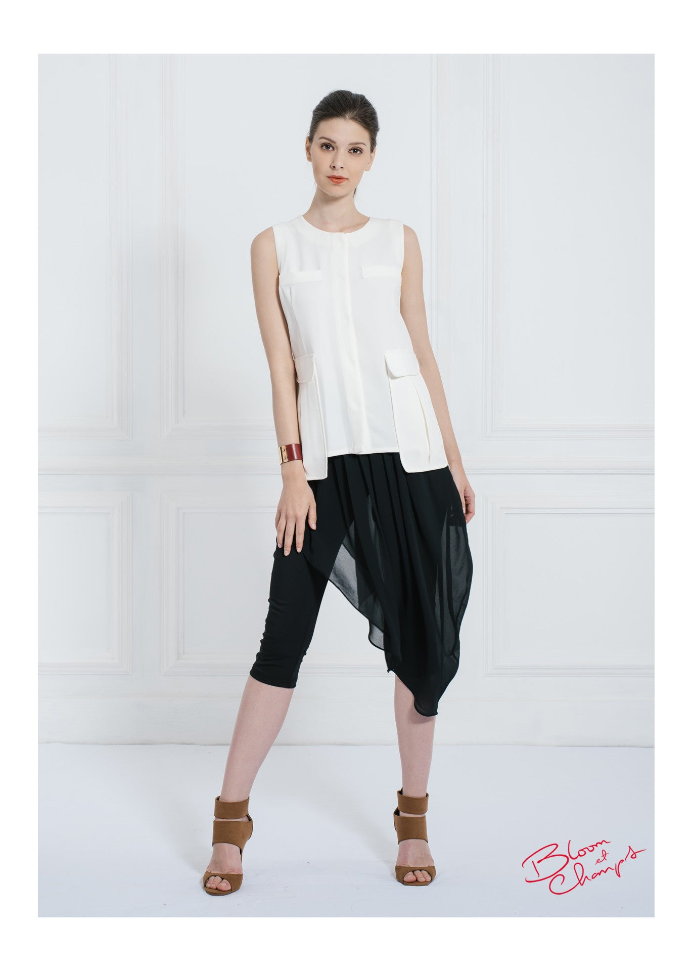 Pocket Pleats Top