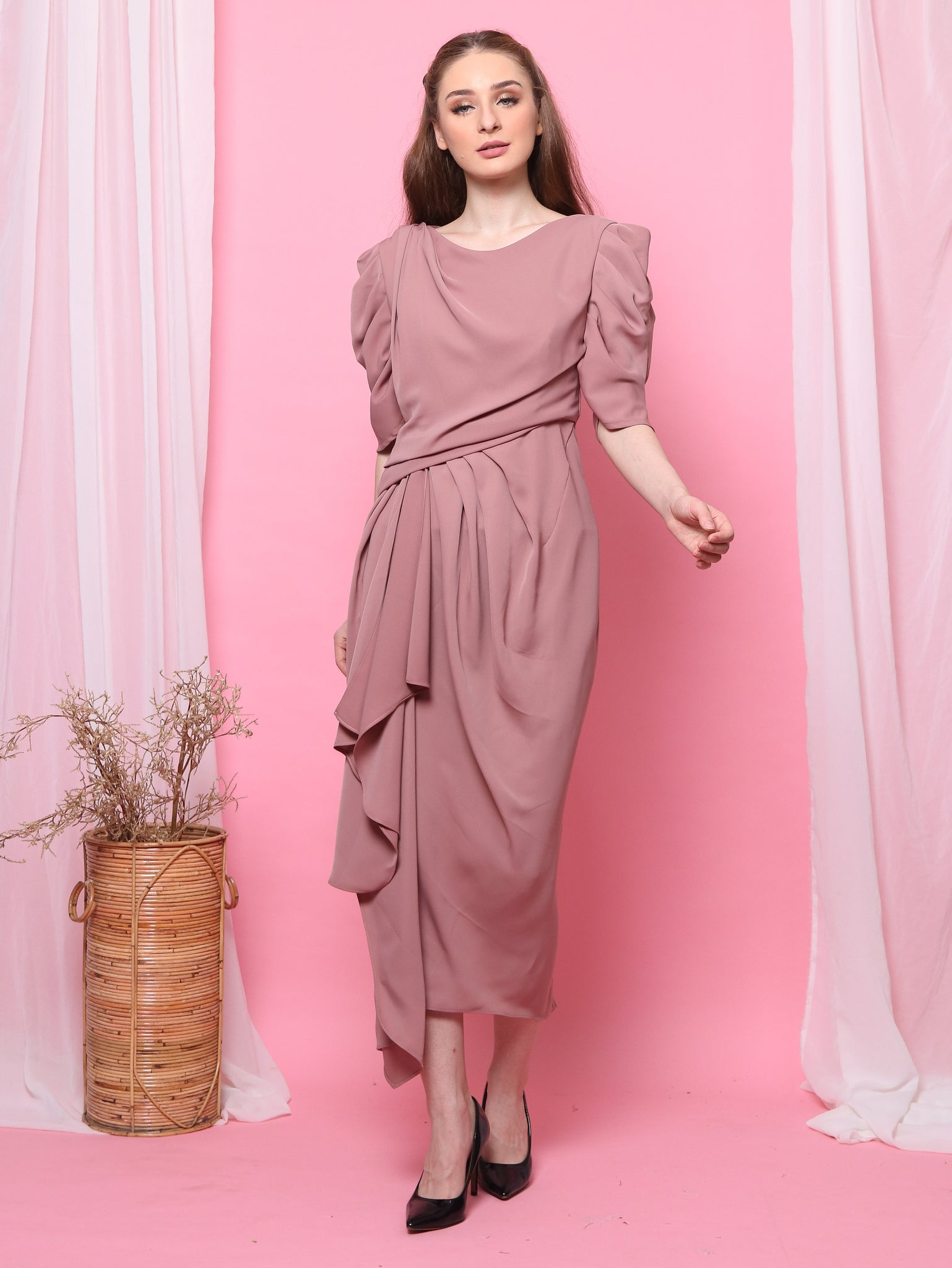 DRESS PLOI PINK SALEM