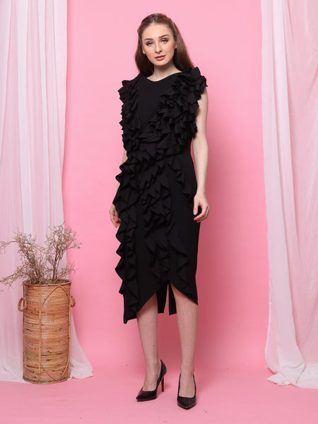 DRESS RUMBAI HITAM 3