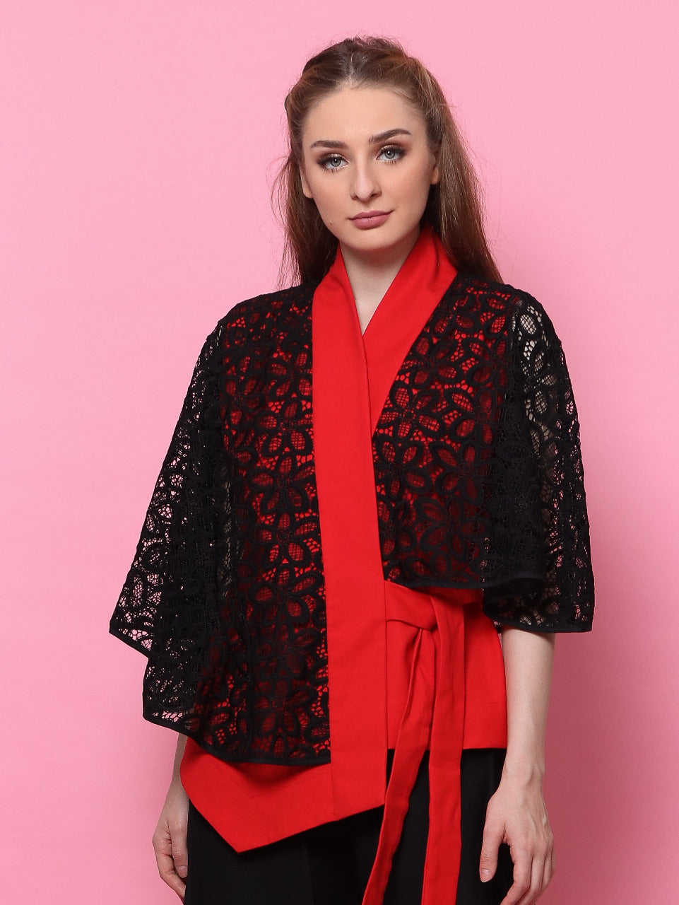 TOP BRUKAT MERAH
