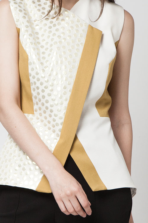 Half Abstract Gold Top
