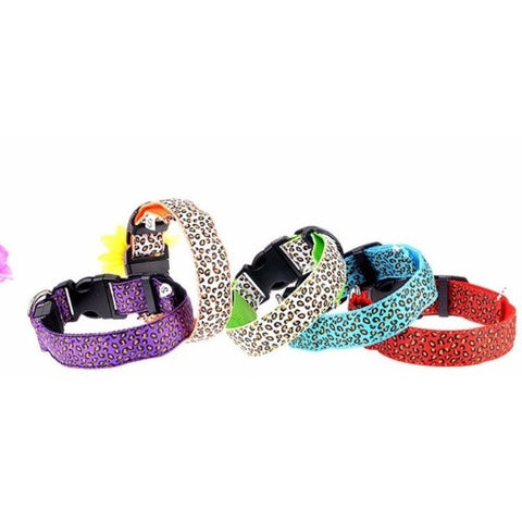 Dog Leopard LED Light Safety Collar-Pet Stuff-Alpsy Group