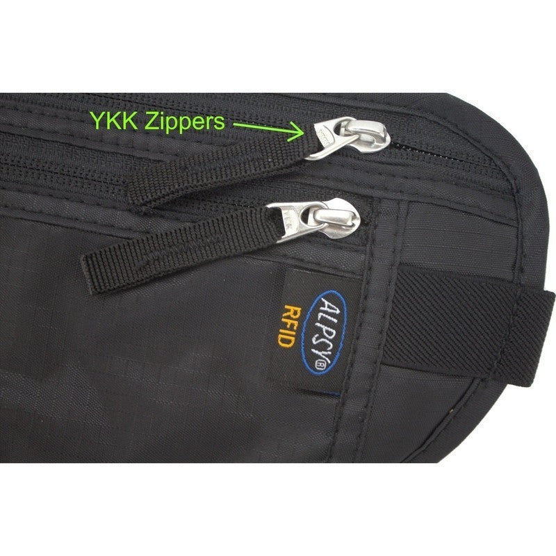 Money Belt Deluxe RFID Black-Money Belts-Alpsy Group
