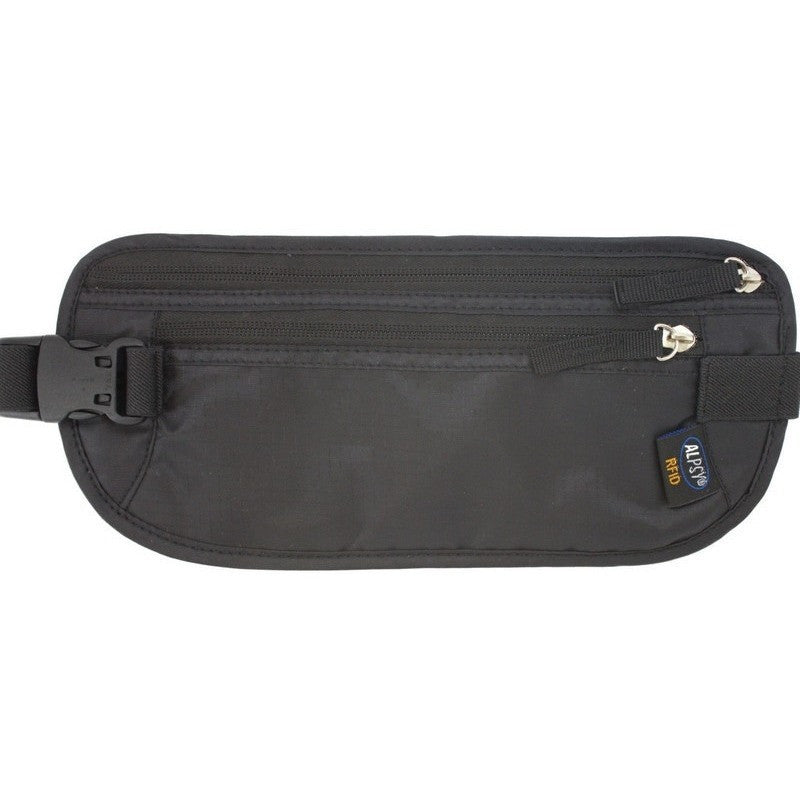 Money Belt Premium Travel Wallet Black-Money Belts-Alpsy Group
