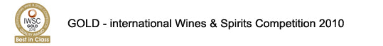 GOLD - Internationl Wines & Spirits Competition 2010