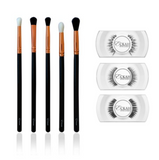 Elite Eye Brush Set & Lashes Bundle