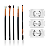 Essential Eye Brush Set & Lashes Bundle