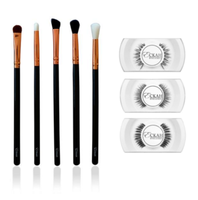 Smokey Eye Brush Set & Lashes Bundle