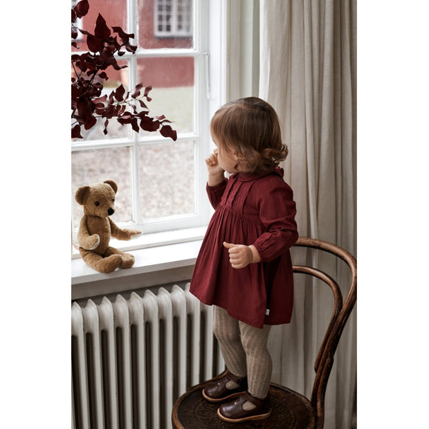 Wheat Dress Roselil Dresses 2105 burgundy