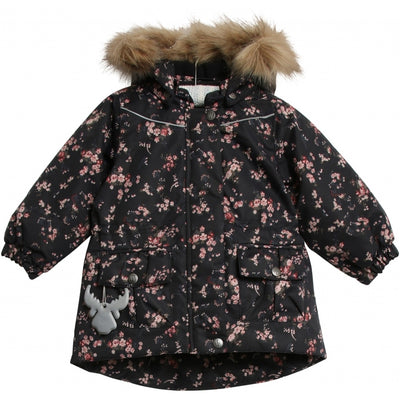 Wheat Outerwear Jacket Mathilde Tech Jackets 1481 blue flowers