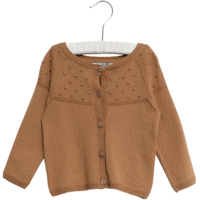Wheat Knit Cardigan Olefine Knitted Tops 5073 caramel