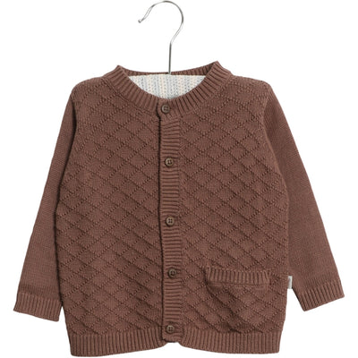 Wheat Knit Cardigan Ray Knitted Tops 2448 powder plum
