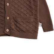 Wheat Knit Cardigan Ray Knitted Tops 3086 dark rock