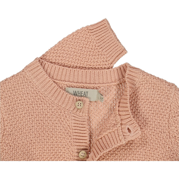 Wheat Knit Cardigan Ray Knitted Tops 2270 misty rose