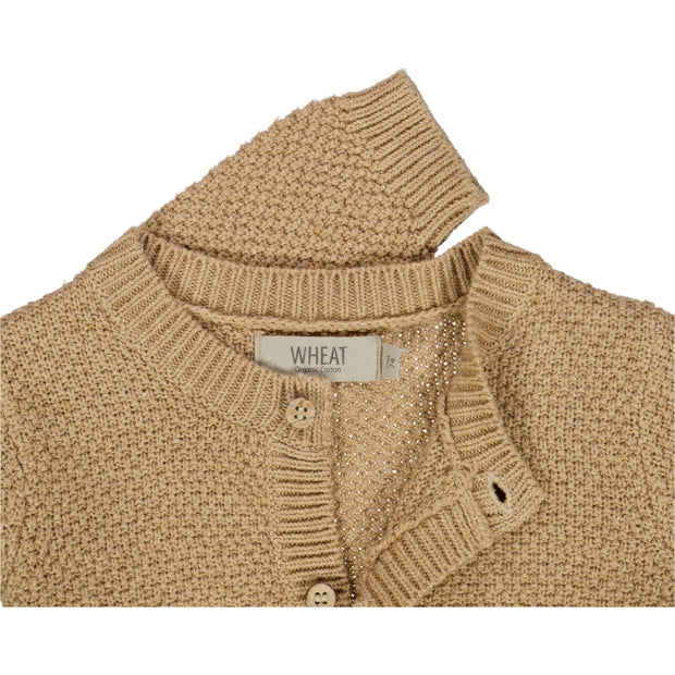 Wheat Knit Cardigan Ray Knitted Tops 3230 sand melange