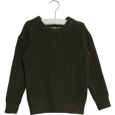 Wheat Knit Pullover Charlie Knitted Tops 4064 dark army