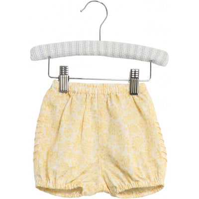Wheat Nappy Pants Pleats Shorts 5302 lemon flowers