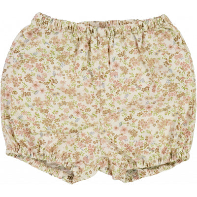 Wheat Nappy Pants Pleats Shorts 3130 eggshell flowers