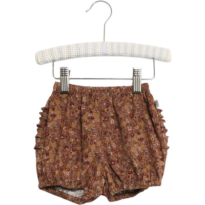 Wheat Nappy Pants Ruffles Shorts 5070 caramel flowers