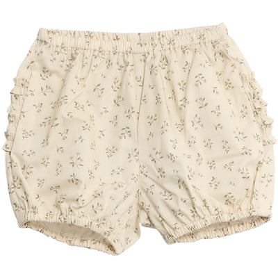 Wheat Nappy Pants Ruffles Shorts 3130 eggshell flowers