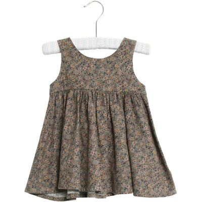 Wheat Pinafore Wrinkles Dresses 4150 green flowers