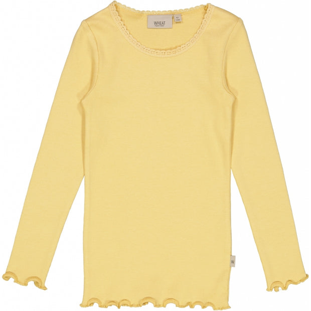 Wheat Rib T-Shirt Lace LS Jersey Tops and T-Shirts 5083 sahara sun