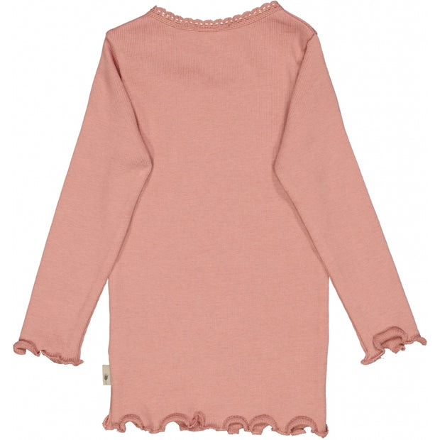 Wheat Rib T-Shirt Lace LS Jersey Tops and T-Shirts 2024 rosie