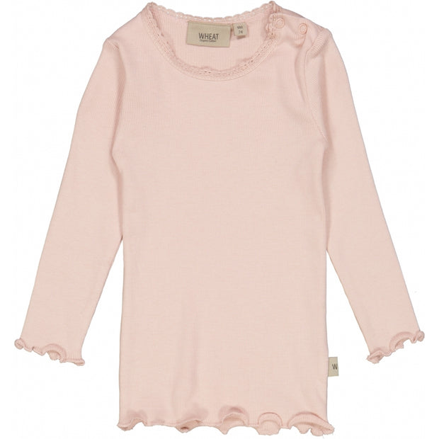 Wheat Rib T-Shirt Lace LS Jersey Tops and T-Shirts 2400 powder