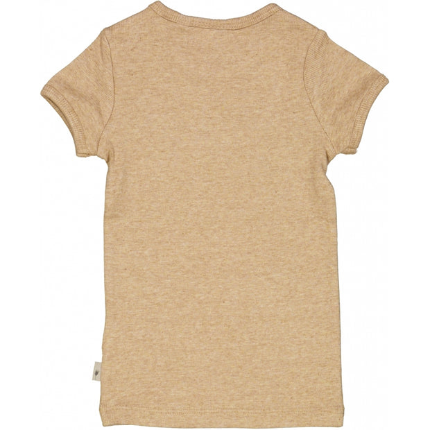 Wheat Rib T-Shirt SS Jersey Tops and T-Shirts 3230 sand melange