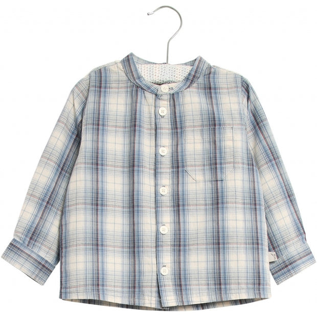 Wheat Shirt Pocket LS Shirts and Blouses 1043 blue
