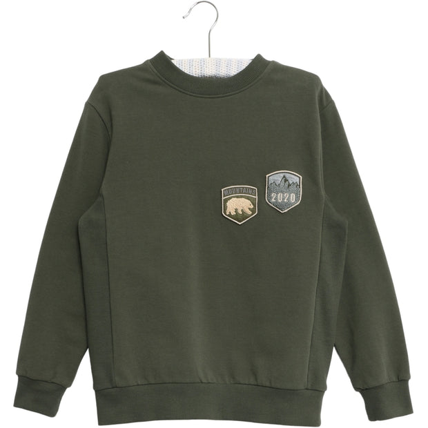 Wheat Sweatshirt Terry Badges Sweatshirts 4065 ivy