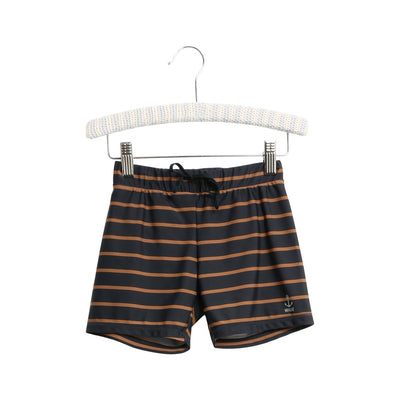 Wheat Swim Shorts Eli Swimwear 1397 midnight blue stripe