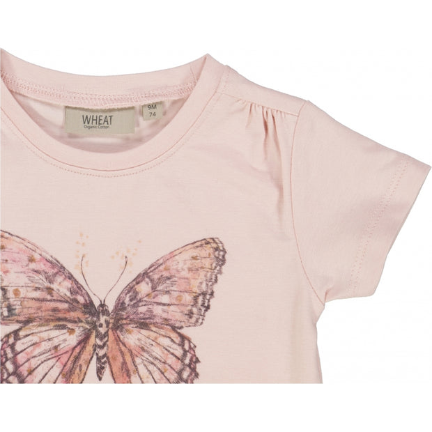 Wheat T-Shirt Butterfly Jersey Tops and T-Shirts 2400 powder