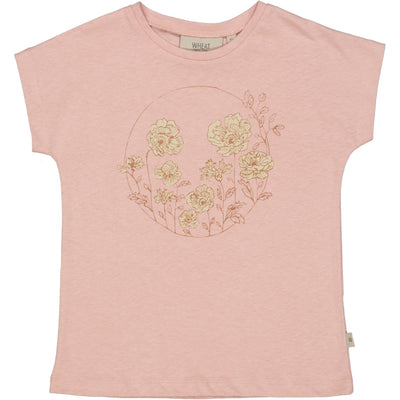 Wheat T-Shirt Flower Circle Jersey Tops and T-Shirts 2270 misty rose