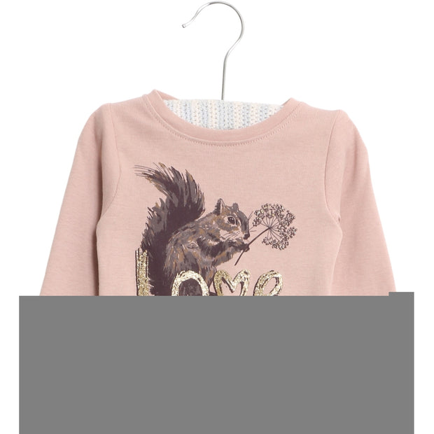 Wheat T-Shirt Squirrel Jersey Tops and T-Shirts 2487 rose powder