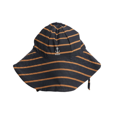 Wheat UV Sun Hat Swimwear 1397 midnight blue stripe