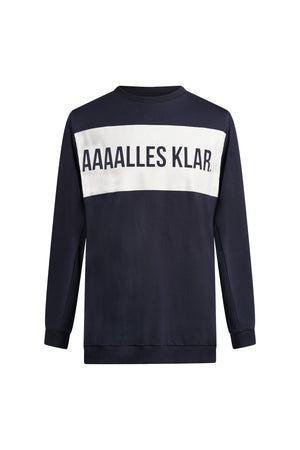 1. Nicer blauer Sweater