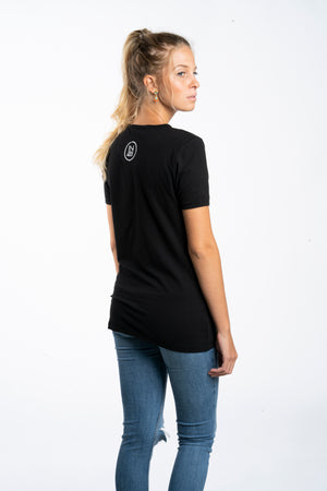 Round-Neck Black Shirt