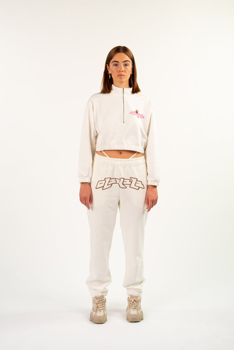 PLAY CROPPED HALFZIP OFFWHITE