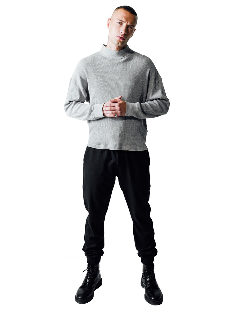 STRUCTURED LONGSLEEVE GREY