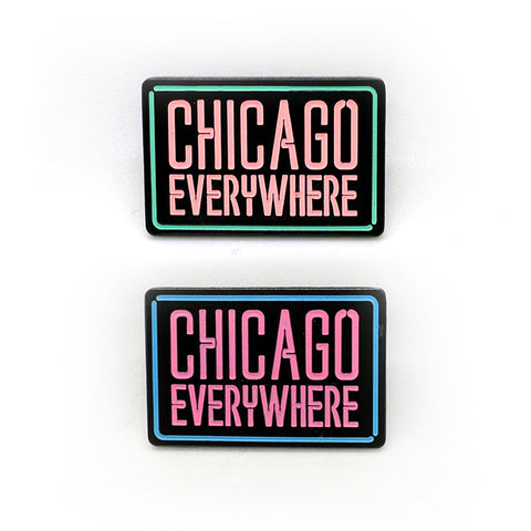 Jugrnaut x Peabe: Chicago Everywhere Pin (Glow in the Dark)