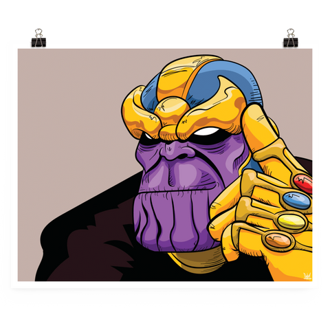"Thanos ""6-Rings"" Poster"