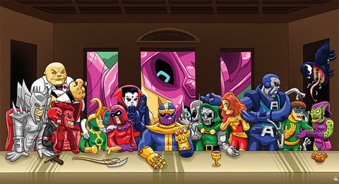 The Last Supper of Villains Sticker, Other, peabe, peabe - peabe