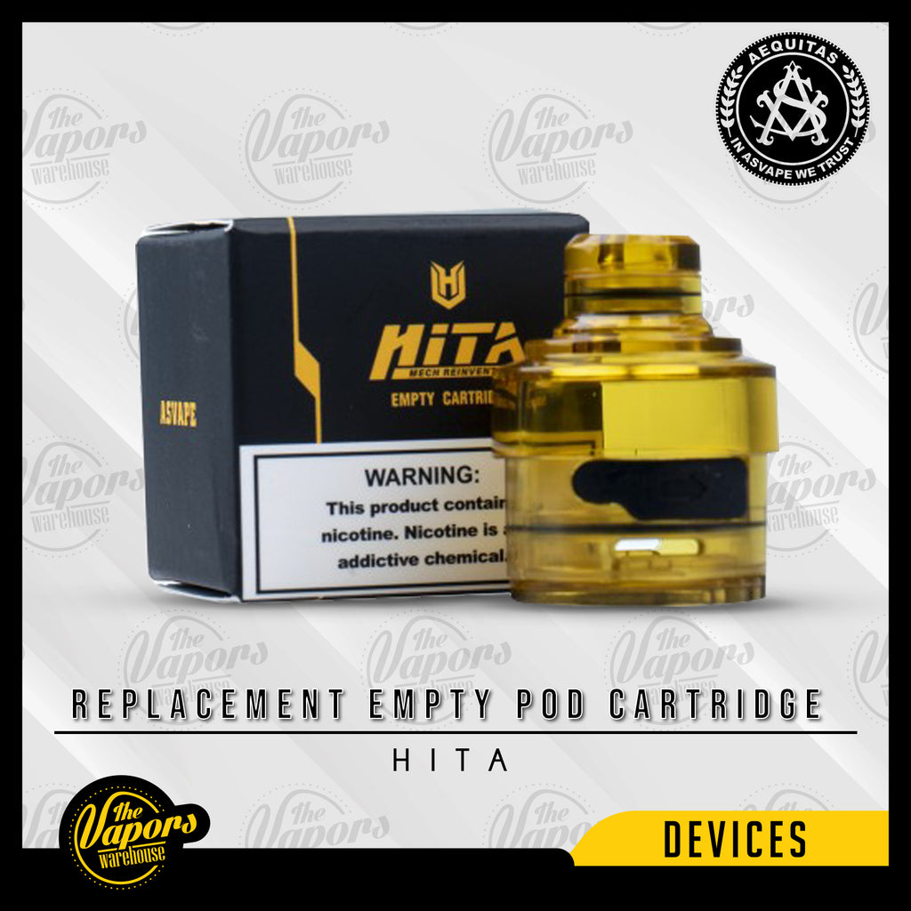 Asvape Hita Replacement Empty Pod Cartridge 3ml (1pc/pack) Default Title